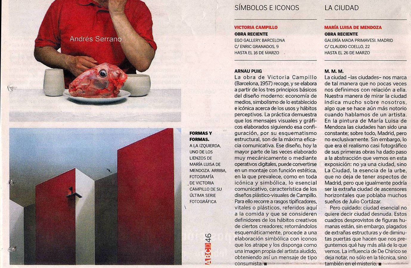 Noticia ABC sobre exposición de pintura en Mada Primavesi