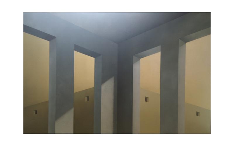 8 ventanas. 130x200cm. Pintura urbana