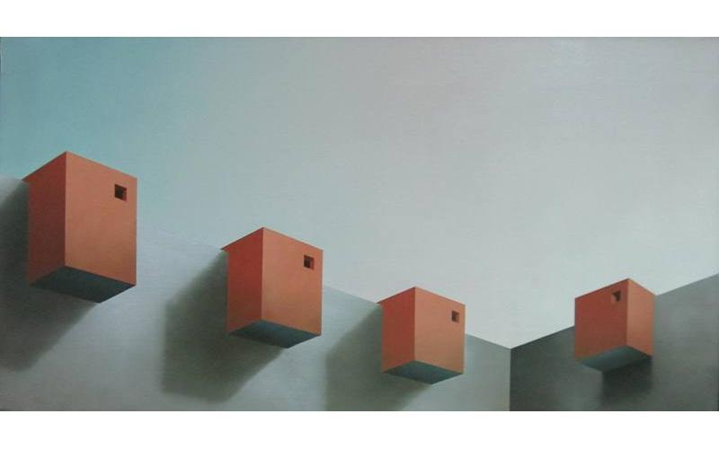 Cuatro miradores. 54x100cm. Pinturas abstractas