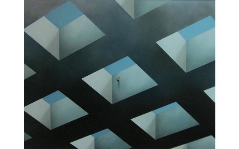 Un mirador. 116x146cm. Pintura geométrica