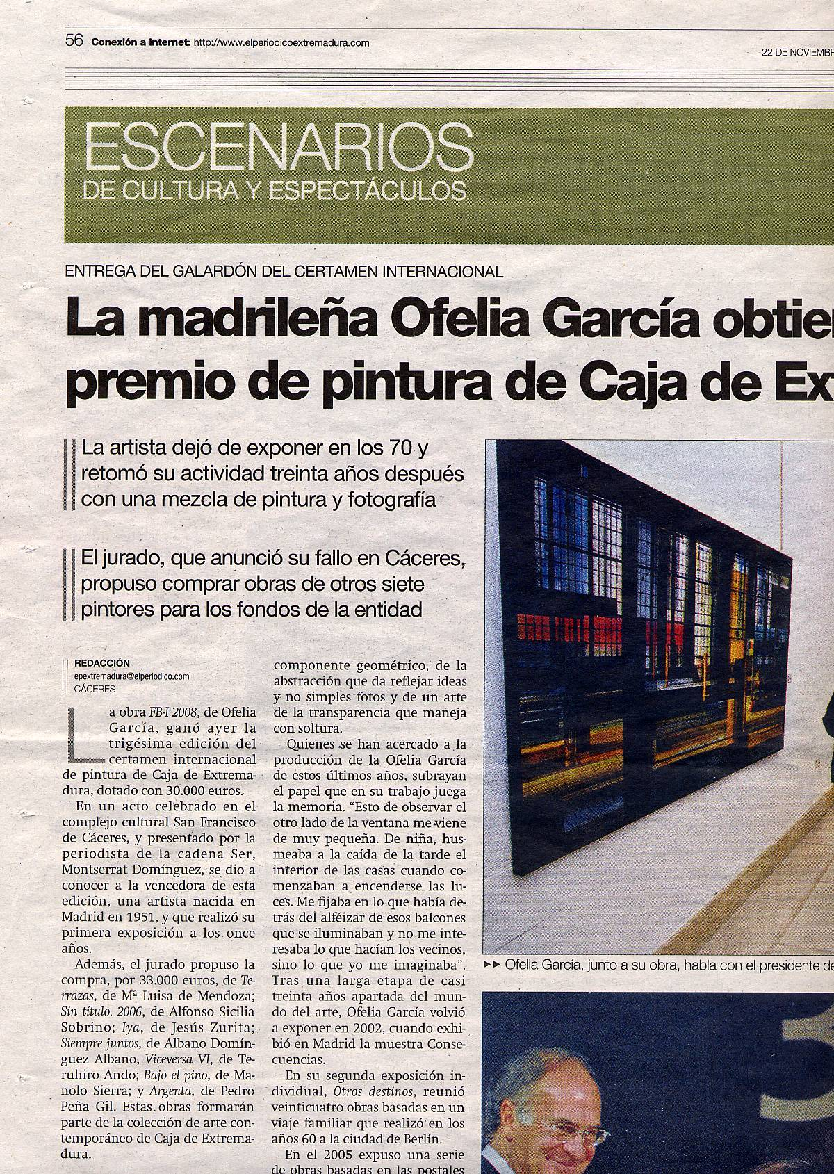 Periódico de Extremadura: 30th International Painting Competition, Caja de Extremadura